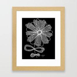 White Flower 4 Framed Art Print