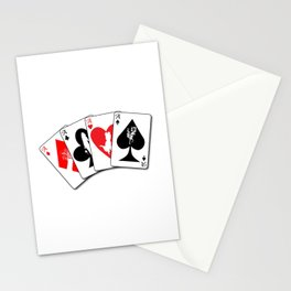 Four Aces Flush Stationery Cards