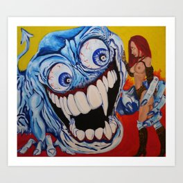 Crazed Art Print