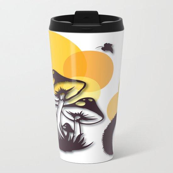 Mushroom And Hedgehog No. 3 Metal Travel Mug