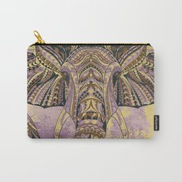 Grunge Ethnic Elephant Carry-All Pouch