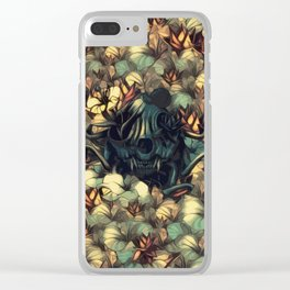 The skull, the flowers and the Snail Warm Clear iPhone Case
