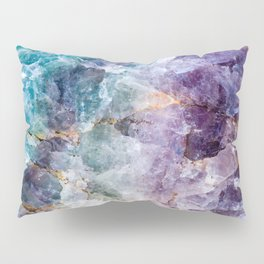 Quartz Stone - Blue and Purple Pillow Sham