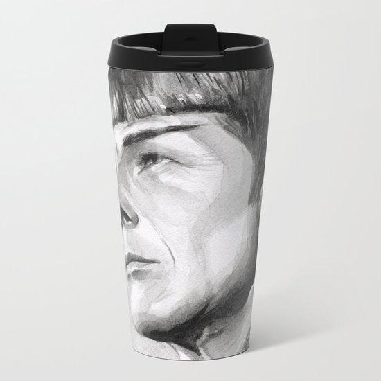 Star Trek Spock Portrait Metal Travel Mug