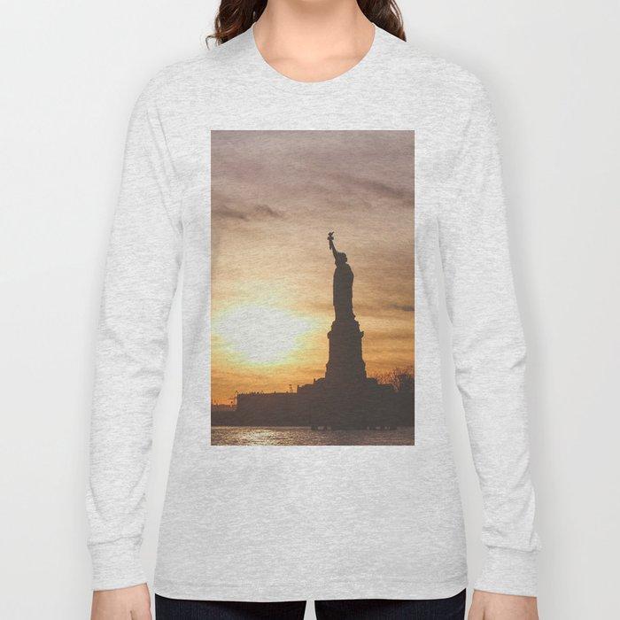 Lady at Sunset Long Sleeve T-shirt
