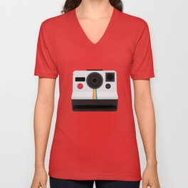 Polaroid One Step Land Camera Unisex V-Neck