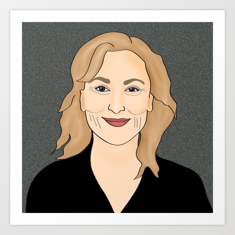 Meryl Streep Art Print By Cleopetradesign Society6