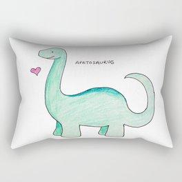Apatosaurus Dinosaur Rectangular Pillow
