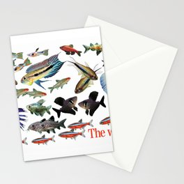 Small Freshwater tropical fish 2 Stationery Cards