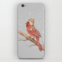 jon snow iPhone & iPod Skins featuring First Snow - colour option by Terry Fan