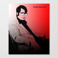 stephen king Canvas Prints featuring Stephen King Rules by Hazel Bellhop
