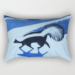 Striped Skunk at White Sands Rectangular Pillow
