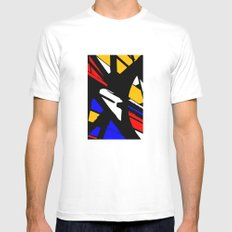Speed White MEDIUM Mens Fitted Tee