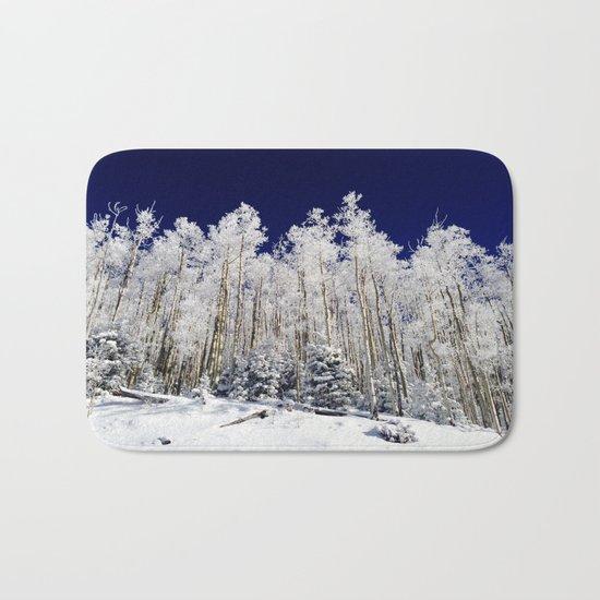 Winter Aspens Bath Mat
