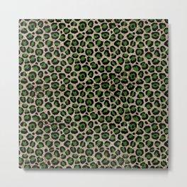 Beautiful Leopard Pattern Metal Print
