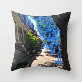 Ghost Tree Throw Pillow