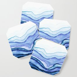 Washed Away Watercolor Coaster
