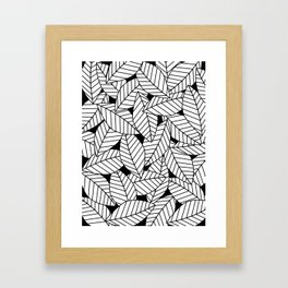 Leaves in Black Framed Art Print