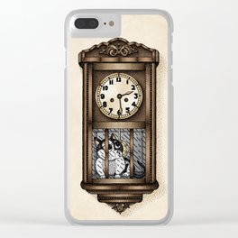 Wall Clock Clear iPhone Case