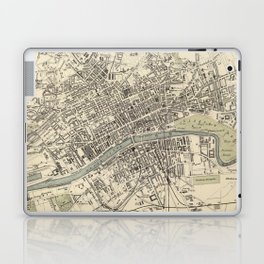 Vintage Map of Glasgow Scotland (1872) Laptop & iPad Skin