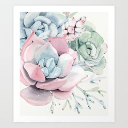 Garden of Succulents Art Print