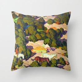 Sunset in the Foothills - William Herbert Dunton Throw Pillow