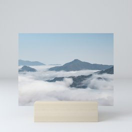 Mountains above the clouds in Sapa, Vietnam | Travel photography | Nature photo print Mini Art Print