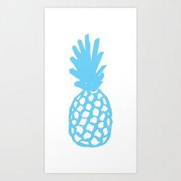 Light Blue Pineapple Art Print