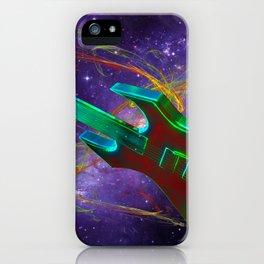 Guitar en Space iPhone Case