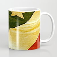 america Mugs featuring America by Marissa Kyle
