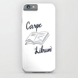 Carpe Librum - Book Nerd iPhone Case
