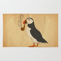 la Area & Throw Rugs featuring Puffin' by Megs stuff...