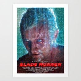 Blade Runner Mosaic Art Movie Poster - Tears in Rain Art Print