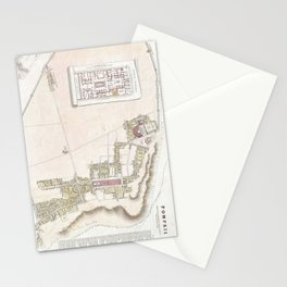 Vintage Map of Pompeii Italy (1832) Stationery Cards