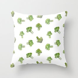 Broccoli – Scattered - Open Throw Pillow