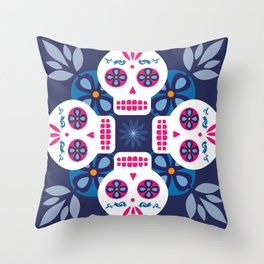 Talavera Blue Throw Pillow