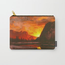 Classical Masterpiece 'Sunset in the Yosemite Valley' by Albert Bierstadt Carry-All Pouch