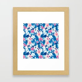 Bloom Blue Framed Art Print