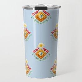 Waffles and Bacon (Robin's Egg Blue) Travel Mug