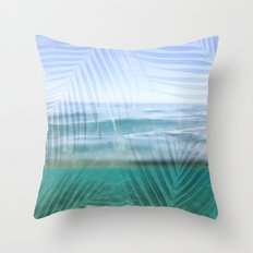 Palms over water  Throw Pillow