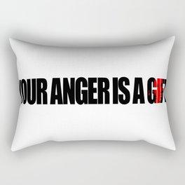 Anger Rectangular Pillow