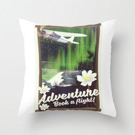 Adventure Book a Flight! Throw Pillow