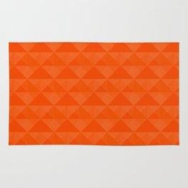 Orange geometric pattern . Rug