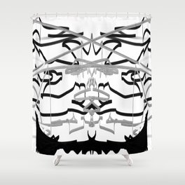 Artistic bat in the darkness , Abstract, art, Gray, black,  graffity, points, bat Shower Curtain