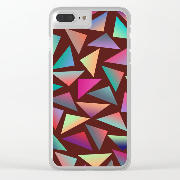 Geometric Pattern VI Clear iPhone Case