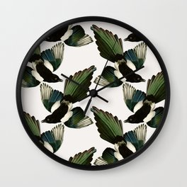 A Tiding Of Magpies Wall Clock