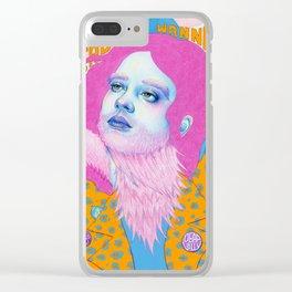 Natalie Foss x Deap Vally Clear iPhone Case