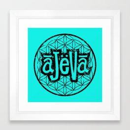 Ajeva Logo Teal Framed Art Print