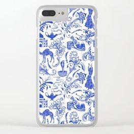Arabian Nights // China Blue Clear iPhone Case