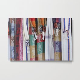 Patterned Hammocks in Otavalo Metal Print
